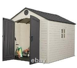 Lifetime Tool Shed Big Outdoor Plastic 8' x 10' Lawn Garden Tractor Storage
