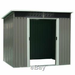 Metal Storage Shed Heavy Duty Kit Outdoor Garden Backyard Log Toolshed DIY 4x78