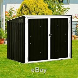 Modern & Durable Horizontal Storage Shed 68 Cubic Feet for Garbage Cans