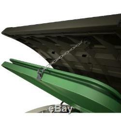 OUTDOOR STORAGE SHED 42-Cu Ft Horizontal Deck Rustproof Piston Lid Garbage Trash