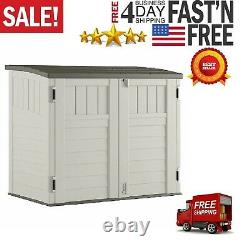 Outdoor 4 ft. 5 in. W x 2 ft. 9 in. D Horizontal Storage Shed