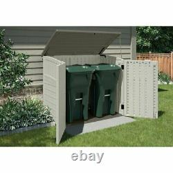 Outdoor 4 ft. 5 in. W x 2 ft. 9 in. D Horizontal Storage Shed Weather Resistant