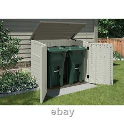 Outdoor 4ft. 5in W 2 ft. 9in D Horizontal Storage Shed resin with reinforced floor
