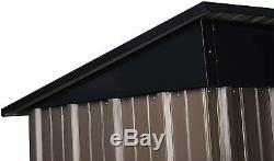Outdoor 5x3 FT Tool Storage Utility Metal Garden Storage Shed Sloped Metal Roof