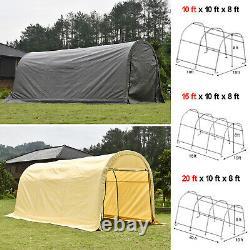 Outdoor Canopy Carport Tent Car Shelter Storage Shed + UV Proof Tarp Garage Yard