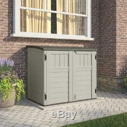 Outdoor Garbage Bag Storage 4.5 ft Shed Garden Backyard Can Organizer Horizontal