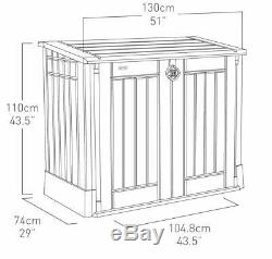 Outdoor Garden Patio Storage Box Container Chest Large Plastic Mini Shed Unit