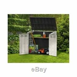 Outdoor Garden Storage Shed Lawn Patio Pool 30 Cubic ft UV Weather Proof Resin