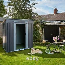 Outdoor Garden Storage Shed Metal Tool House Dog House Backyard Sliding Door