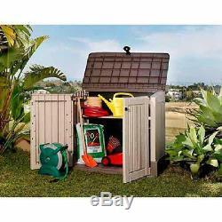 Outdoor Garden Storage Shed Tool Box Patio Garage Utility Lawn Pool Yard Cabinet