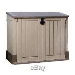 Outdoor Storage Box Garden Tool Organizer 4 x 2 ft Deck Utility Shed Lawn Keter
