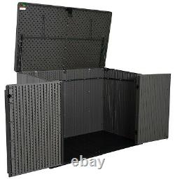 Outdoor Storage Box Hard Plastic Horizontal Storage Shed 561 Gallon 71