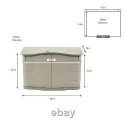 Outdoor Storage Cabinet Plastic Horizontal Shed Garage Shelves Garden Pantry NEW