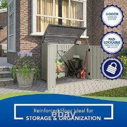 Outdoor Storage Shed Backyard 34 cu. Ft. Horizontal Garden Patio Cabinet Tools Y