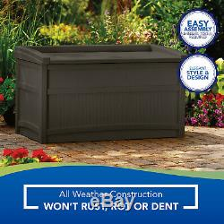 Outdoor Storage Shed Cabinet Garden Pool Trash Cans Yard Seat Garage Patio 50gal
