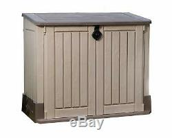 Outdoor Storage Shed Garden Patio 30 Cubic Feet Capacity Container Durable Resin