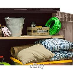 Outdoor Storage Shed Large 4.3 x 2.5' Garden Patio Pool Yard Tool Organizer Kit
