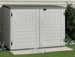 Outdoor Storage Shed Organizer Patio Garden Horizontal Plastic Box Pool 4' High