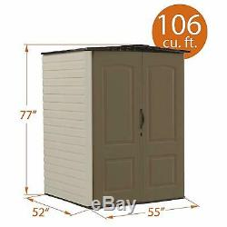 Outdoor Storage Shed Plastic Rubbermaid Med Heavy Duty Garden Tool Area Lockable