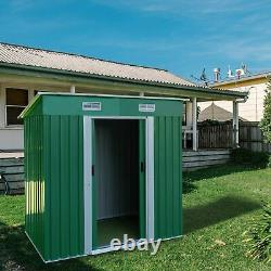 Outdoor Storage Shed Storage Room 3.5 x 6 Ft Lockable Organizer Garden Backyard