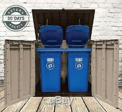 Outdoor Storage Shed X Large Container Box Garden Tool Garage Backyard Trash Can