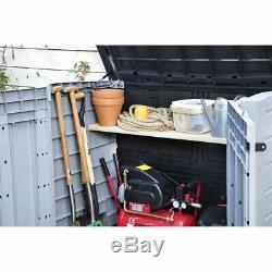 Outdoor Storage Utility Shed Resin Tool Cabinet Garden Patio Backyard Deck Box