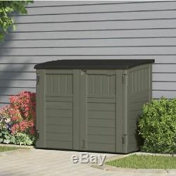 Outdoor Storage Utility Shed Resin Tool Cabinet Gray Garden Patio Yard Deck Box