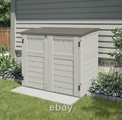 Outdoor Storage Utility Shed Tool Cabinet Plastic Garden Patio Deck Backyard Box