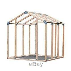 Peak Style Instant Framing Kit Garden Utility Garage Outdoor Wood Storage Shed