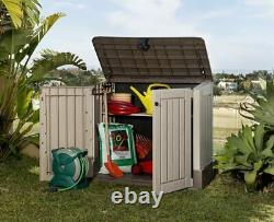 Plastic Outdoor Storage AllWeather Outdoor Resin Horizontal Storage Shed Durable