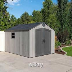 Polyethylene Construction Water Resistant Outdoor Garden Storage Shed 8' x 12.5