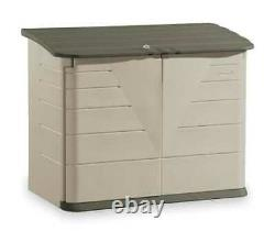 RUBBERMAID COMMERCIAL PRODUCTS FG374701OLVSS Outdoor Storage Shed, XL Horizontal