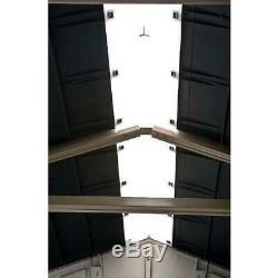 Resin Storage Shed 540 cu. Ft. Door Latch Heavy Duty Floor Panels Windows Gray