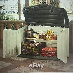 Rubbermaid 135 G 18 Cu. Ft. Horizontal Backyard Outdoor Garden Deck Storage Shed