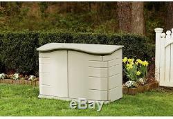 Rubbermaid 2 ft 3 in x 4 ft 6 in Horizontal Resin Storage Shed Storage Plastic