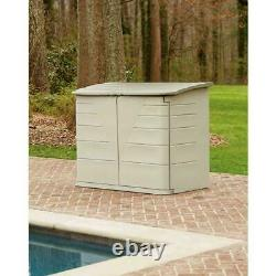 Rubbermaid 2 ft. 7 in. X 5 ft. Horizontal Resin Heavy Duty Plastic Storage Shed