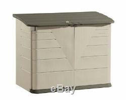 Rubbermaid 2 ft. 7 in. X 5 ft. Horizontal Resin Storage Shed Heavy Duty New