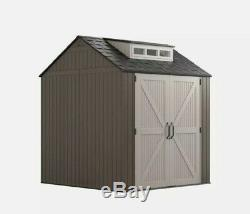 Rubbermaid 7x7 Durable Weather Resistant Resin Storage Shed TRUSTED SELLER