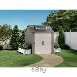 Rubbermaid 7x7 Ft Durable Weather Resistant Resin Outdoor Storage Shed New