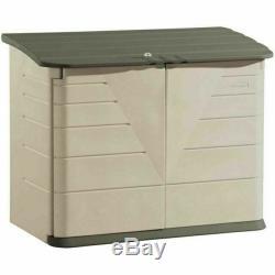 Rubbermaid FG374701OLVSS 32 cubic ft Horizontal Storage Shed