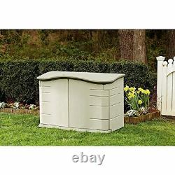 Rubbermaid FG374801OLVSS Small Horizontal Resin Weather Resistant Outdoor Gard