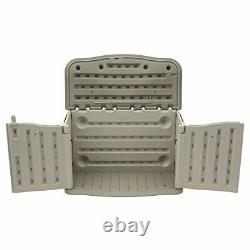 Rubbermaid FG374801OLVSS Small Horizontal Weather Resistant Outdoor Storage