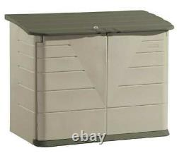 Rubbermaid Fg374701olvss Sandstone Extra Large Horizontal Outdoor Storage Shed