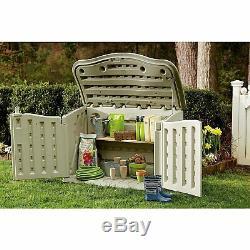 Rubbermaid Horizontal Storage Shed, Garden Tools FG374801OLVSS 3DAYSHIP