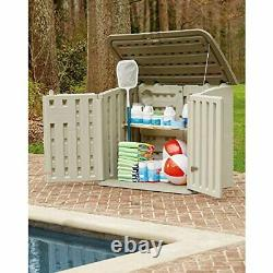 Rubbermaid Large Horizontal Resin Weather Resistant Outdoor Garden Storage Shed