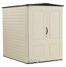 Rubbermaid Large Vertical Resin Weather Resistant Outdoor Garden Storage Shed, 5