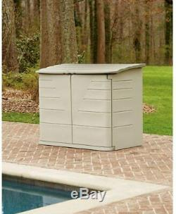 Rubbermaid Outdoor Storage Shed for Frame Easy Set Above Ground Swimming Pool
