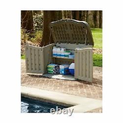 Rubbermaid Split-Lid Resin Weather Resisrant Outdoor Garden Storage Shed, Oli