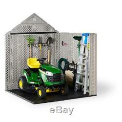 Rubbermaid Storage Shed 332 cu. Ft. Capacity Lockable Impact Resistant Brown