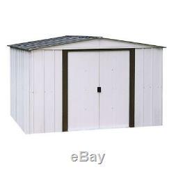 Shed Storage Metal 10 ft. X 8 ft. Eggshell & Coffee 2-Tone Steel Floor Frame Kit